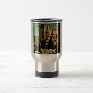 Grunge Medieval Castle Stainless Steel Travel Mug