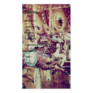 Grunge Merry-Go-Round Goat Pack Of Standard Business Cards