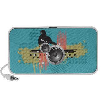 Grunge Modern DJ Doodle Speaker (aqua)