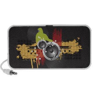 Grunge Modern DJ Doodle Speaker (black)