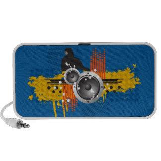 Grunge Modern DJ Doodle Speaker (blue)