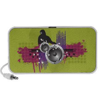 Grunge Modern DJ Doodle Speaker (lime)