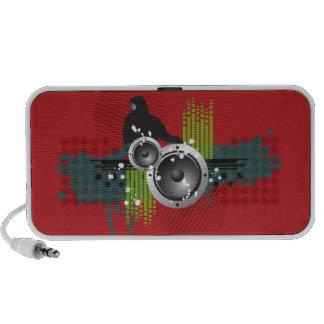 Grunge Modern DJ Doodle Speaker (red)