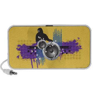 Grunge Modern DJ Doodle Speaker (yellow)