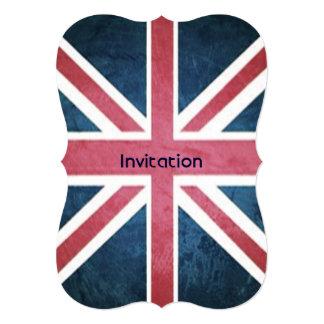 grunge modern London fashion UK British flag 13 Cm X 18 Cm Invitation Card