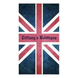 grunge modern London fashion UK British flag Pack Of Standard Business Cards
