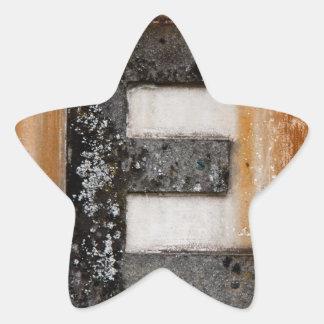 Grunge monogram E Star Sticker