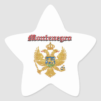 Grunge Montenegro coat of arms designs Star Stickers
