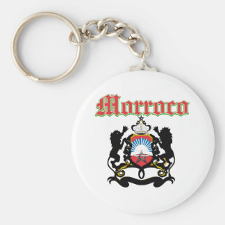 Grunge Morocco coat of arms designs Key Ring