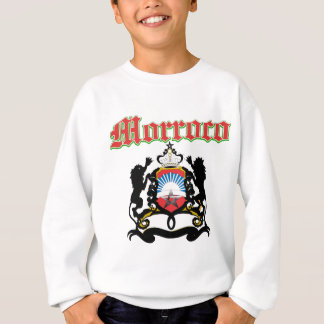 Grunge Morocco coat of arms designs Sweatshirt