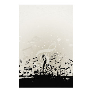 Grunge Music Design Stationery