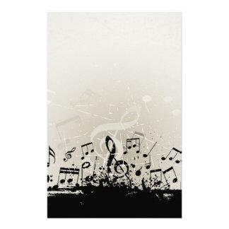 Grunge Music Design Stationery