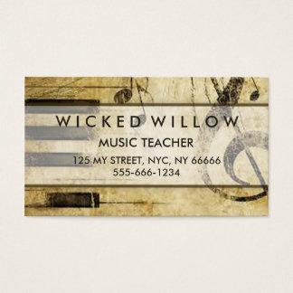Grunge Music Piano Artist Business Card