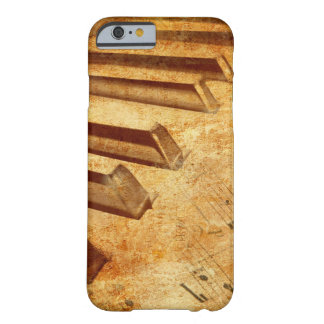 Grunge Music Sheet Piano Keys Barely There iPhone 6 Case