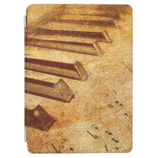 Grunge Music Sheet Piano Keys iPad Air Cover