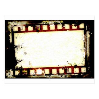 Grunge Negative Film Strip Postcard
