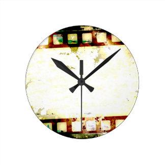 Grunge Negative Film Wall Clocks