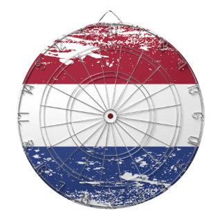 Grunge Netherlands Flag Dartboard With Darts