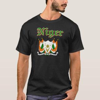 Grunge Niger coat of arms designs T-Shirt
