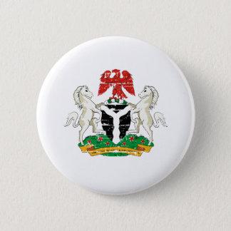 Grunge Nigeria coat of arms designs 6 Cm Round Badge