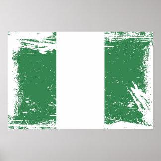 Grunge Nigeria Flag Poster