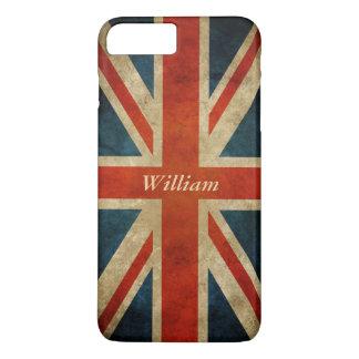 Grunge Old UK Flag - Great Britain Union Jack iPhone 7 Plus Case