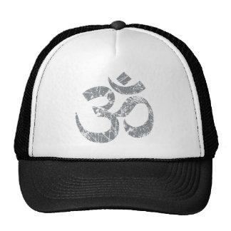 Grunge OM Symbol Spirituality Yoga Cap