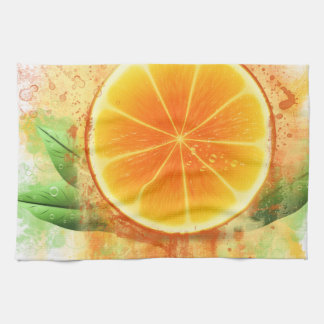 Grunge Orange design Towels