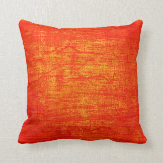 Grunge Orange Paint abstract art Throw Pillow
