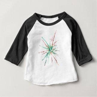 Grunge Paint Splatters green Baby T-Shirt