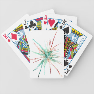 Grunge Paint Splatters green Bicycle Playing Cards