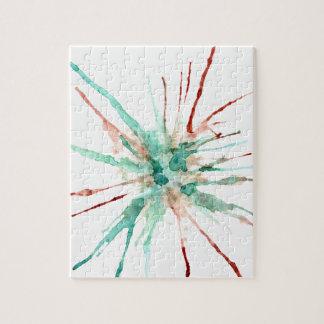 Grunge Paint Splatters green Jigsaw Puzzle