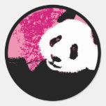 grunge panda. round sticker