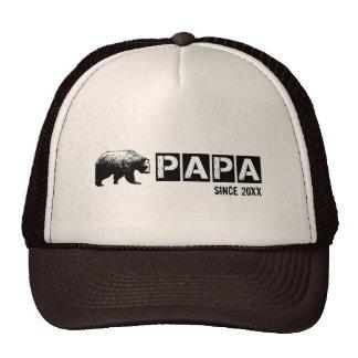 Grunge Papa Bear Since Year, Black Cap