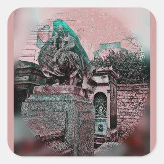Grunge Paris Grave Stickers