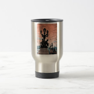 Grunge Parisan Bridge Stainless Steel Travel Mug