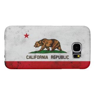 Grunge Patriotic California State Flag