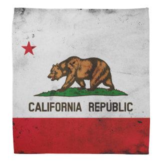 Grunge Patriotic California State Flag Bandana