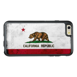 Grunge Patriotic California State Flag OtterBox iPhone 6/6s Plus Case