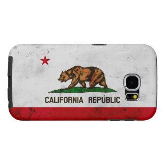 Grunge Patriotic California State Flag Samsung Galaxy S6 Cases