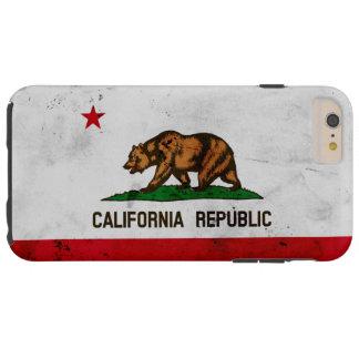 Grunge Patriotic California State Flag Tough iPhone 6 Plus Case