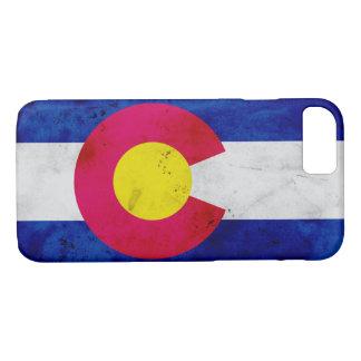 Grunge Patriotic Colorado State Flag iPhone 8/7 Case