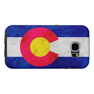 Grunge Patriotic Colorado State Flag Samsung Galaxy S6 Cases