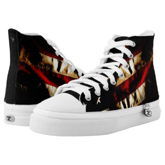 Grunge Patriotic shoes Printed Shoes