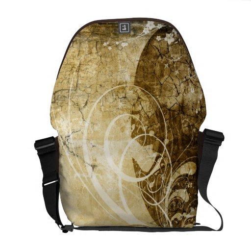 Grunge Pattern Rickshaw Messenger Bag