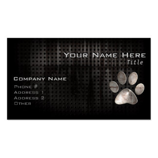 Grunge Paw Print Business Cards