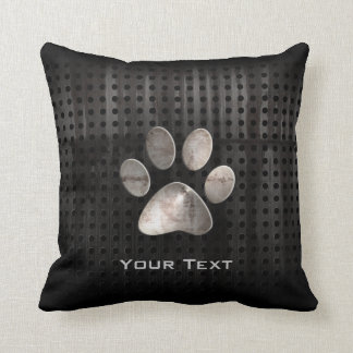Grunge Paw Print Cushion
