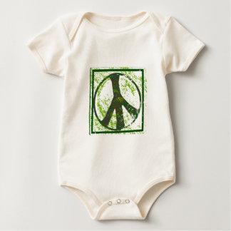 Grunge Peace Symbol Baby Organic Baby Creeper
