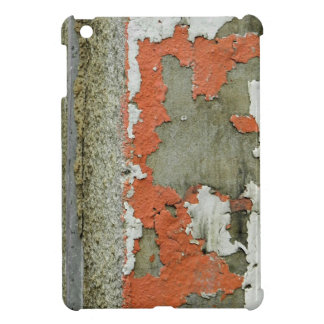 Grunge peeling orange paint on concrete wall iPad mini cover
