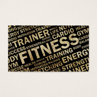 Grunge Personal Trainer Business Card